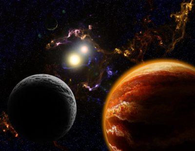 Binary Star & Nebula