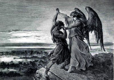 Jacob & the Angel (Gustave Doré: 1855)